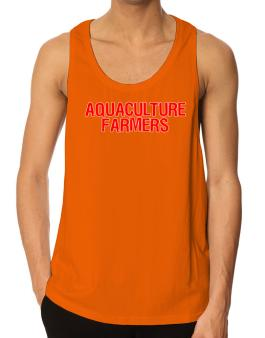 Aquaculture Farmers Embroidery Tank Top