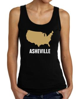 Asheville - Usa Map Tank Top Women
