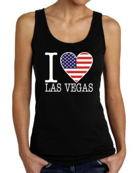 """ I love Las Vegas - American Flag "" Tank Top Women"