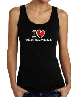 I love Broholmers chalk style Tank Top Women
