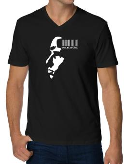 Canada - Barcode With Face V-Neck T-Shirt
