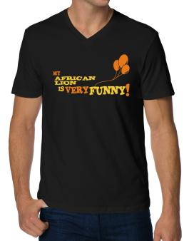 My African Lion Is Very Funny V-Neck T-Shirt