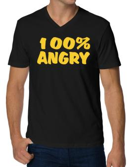 100% Angry V-Neck T-Shirt