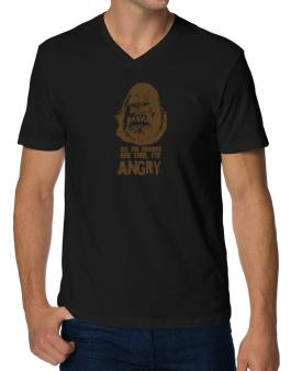 All The Rumors Are True , Im Angry V-Neck T-Shirt