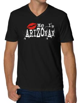 Kiss Me, Im Arizonan - Lips V-Neck T-Shirt