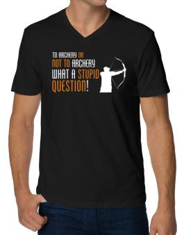 To Archery Or Not To Archery, What A Stupid Question! V-Neck T-Shirt