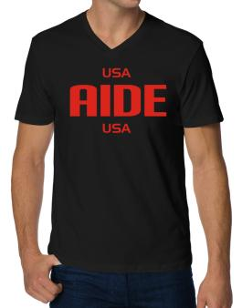 Usa Aide Usa V-Neck T-Shirt