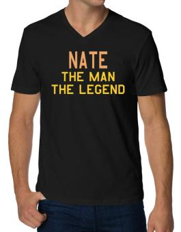 Nate The Man The Legend V-Neck T-Shirt