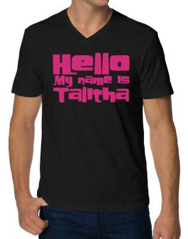 Hello My Name Is Talitha V-Neck T-Shirt