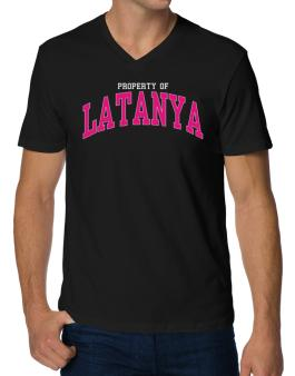Property Of Latanya V-Neck T-Shirt