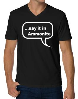 Say It In Ammonite V-Neck T-Shirt