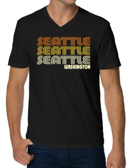 Seattle State V-Neck T-Shirt