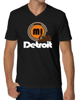 Detroit - State V-Neck T-Shirt