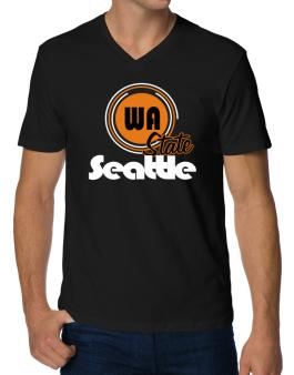 Seattle - State V-Neck T-Shirt