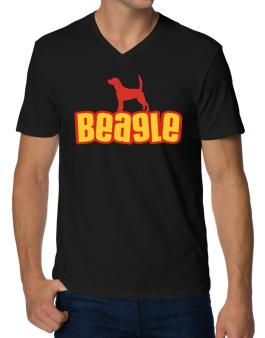 Breed Color Beagle V-Neck T-Shirt