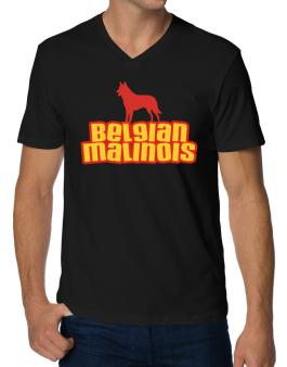 Breed Color Belgian Malinois V-Neck T-Shirt