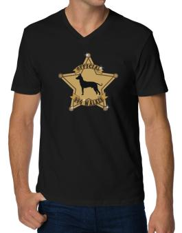 Official Peruvian Hairless Dog Walker V-Neck T-Shirt