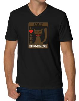 Cat Lover - Euro Chausie V-Neck T-Shirt
