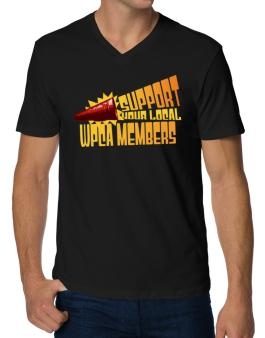 Support Your Local Wpca Members V-Neck T-Shirt