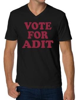 Vote For Adit V-Neck T-Shirt