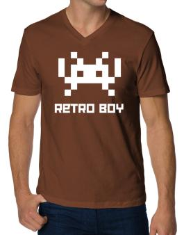 Retro Boy V-Neck T-Shirt
