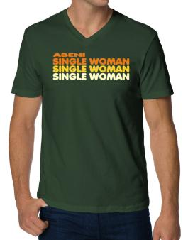 Abeni Single Woman V-Neck T-Shirt