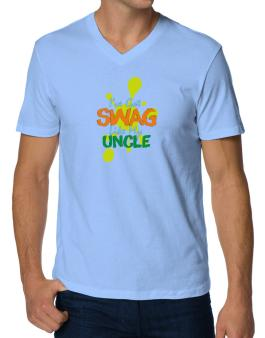 Ive got swag like my uncle V-Neck T-Shirt