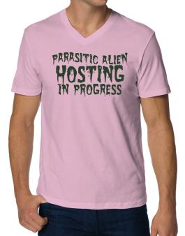 Parasitic Alien V-Neck T-Shirt