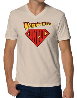 Worlds Best Uncle V-Neck T-Shirt