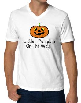 Little Pumpkin On The Way V-Neck T-Shirt