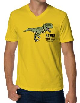 Polo Cuello V de Rawr means I Love You in dinosaur