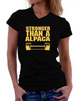 Stronger Than An Alpaca T-Shirt - V-Neck-Womens