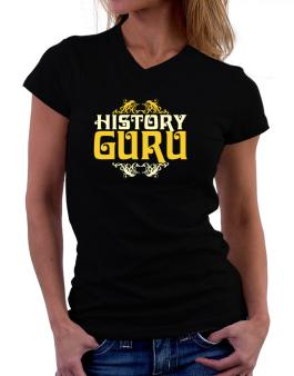 History Guru T-Shirt - V-Neck-Womens