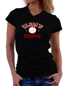 Clems Baseball Training Camp T-Shirt - V-Neck-Womens