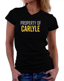 Property Of Carlyle T-Shirt - V-Neck-Womens
