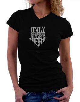 Only Saramaccan Is Spoken Here T-Shirt - V-Neck-Womens
