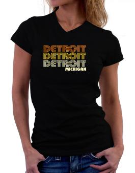 Detroit State T-Shirt - V-Neck-Womens