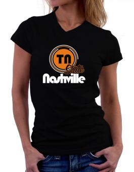Nashville - State T-Shirt - V-Neck-Womens