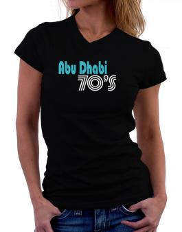 Abu Dhabi 70s Retro T-Shirt - V-Neck-Womens