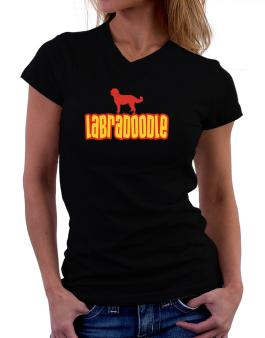 Breed Color Labradoodle T-Shirt - V-Neck-Womens