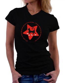 If I Want To Hear The Pitter-patter Of Little Feet ... Ill Put Shoes On My Hemingway Cat T-Shirt - V-Neck-Womens
