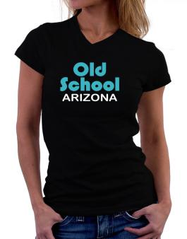 Old School Arizona T-Shirt - V-Neck-Womens