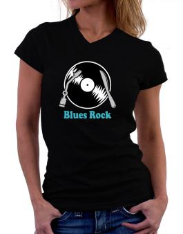 Blues Rock - Lp T-Shirt - V-Neck-Womens