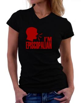 Im Episcopalian - Face T-Shirt - V-Neck-Womens