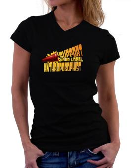 Support Your Local Anthroposophist T-Shirt - V-Neck-Womens