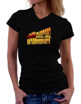Support Your Local Anthroposophists T-Shirt - V-Neck-Womens