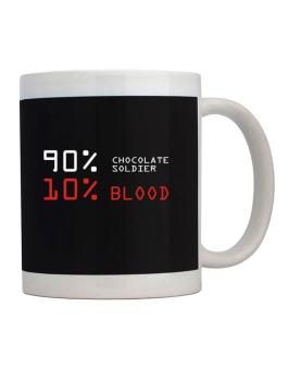90% Chocolate Soldier 10% Blood Mug