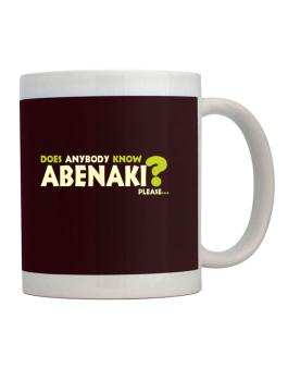 Does Anybody Know Abenaki? Please... Mug