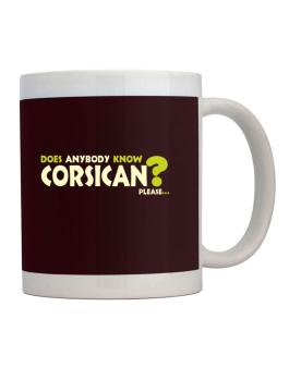 Does Anybody Know Corsican? Please... Mug