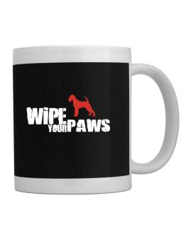 Wipe Your Paws - Irish Terrier Silhouette Mug